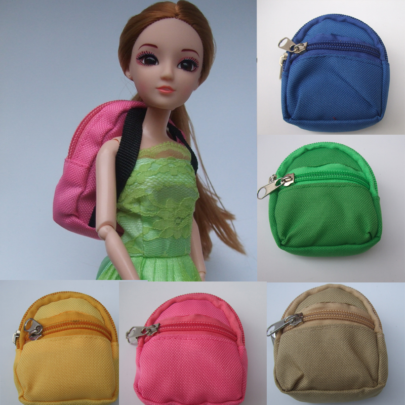 1PCS Dolls Bag backpack For Barbie Doll For BJD 1/6 blyth doll mini coin bag цена