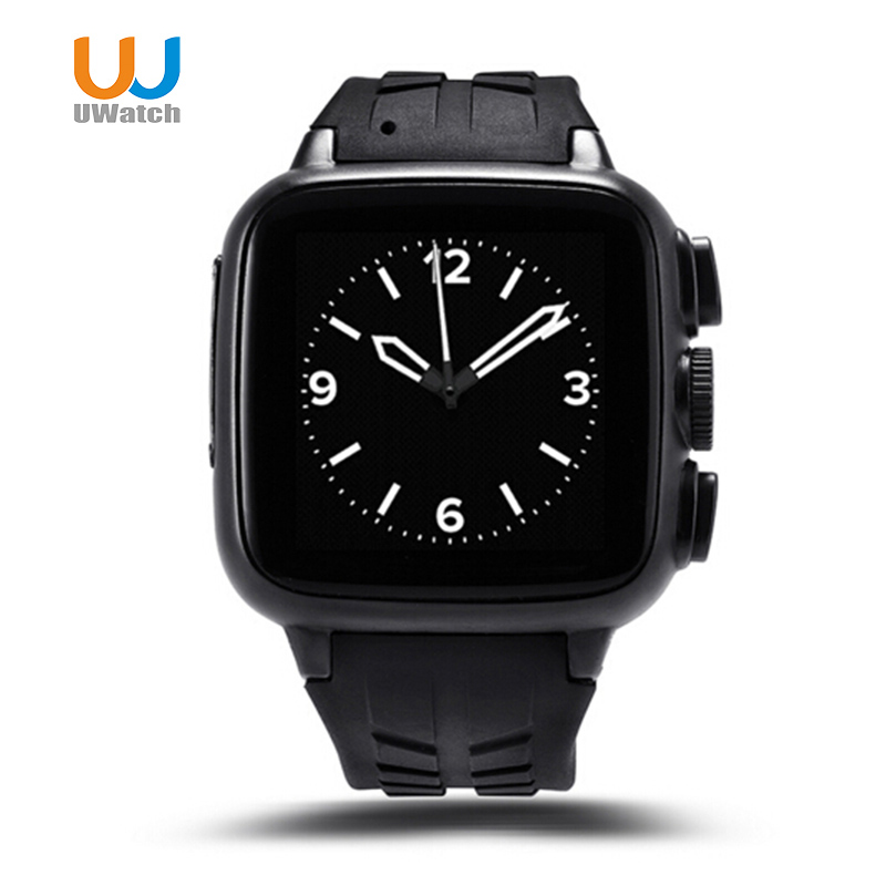 UWatch Wearable Devices Sport Smart Watch Phone Android 4.4 512MB+4GB SIM Card Wifi Bluetooth GPS New Smartwatch For Huawei new curren x4 smart phone watch heart rate step counter stopwatch ultra thin bluetooth wearable devices sport for ios android