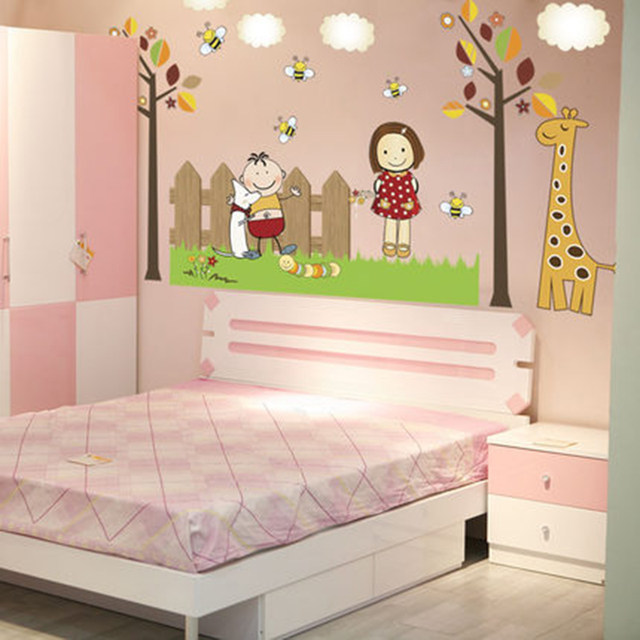 Online Shop Children\'s room layout baby wall stickers boys and girls ...