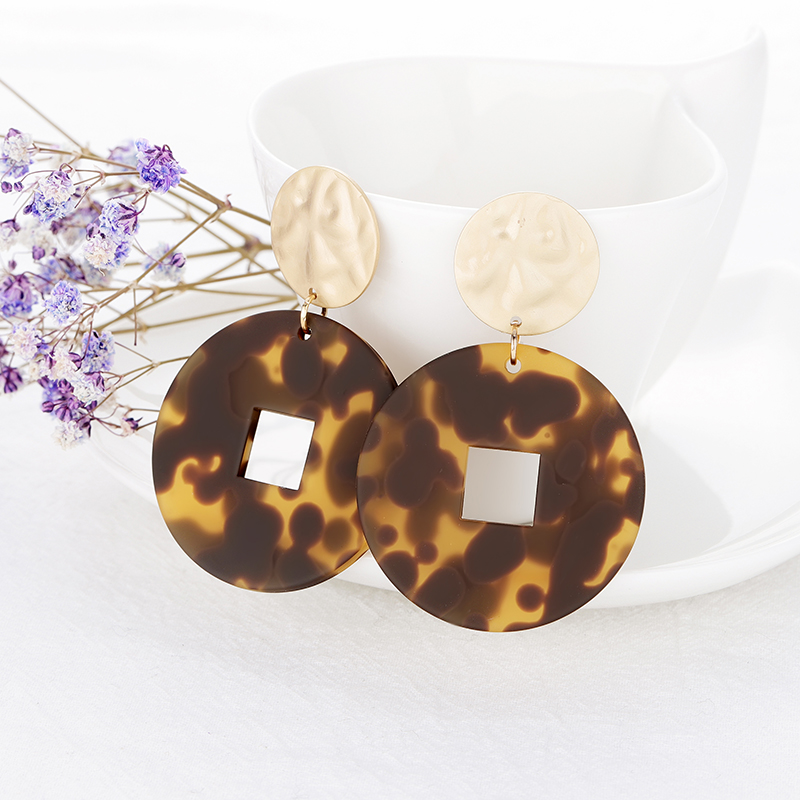 Earrings for Woman New Fashion Geometric Design Leopard Earrings Bohemia Acrylic Drop Earrings Christmas gift for Women jewelry