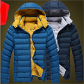 2017 winter new men's hooded casual jacket thick warm winter padded duck down jacket men brand cotton mens outwear coat A1889