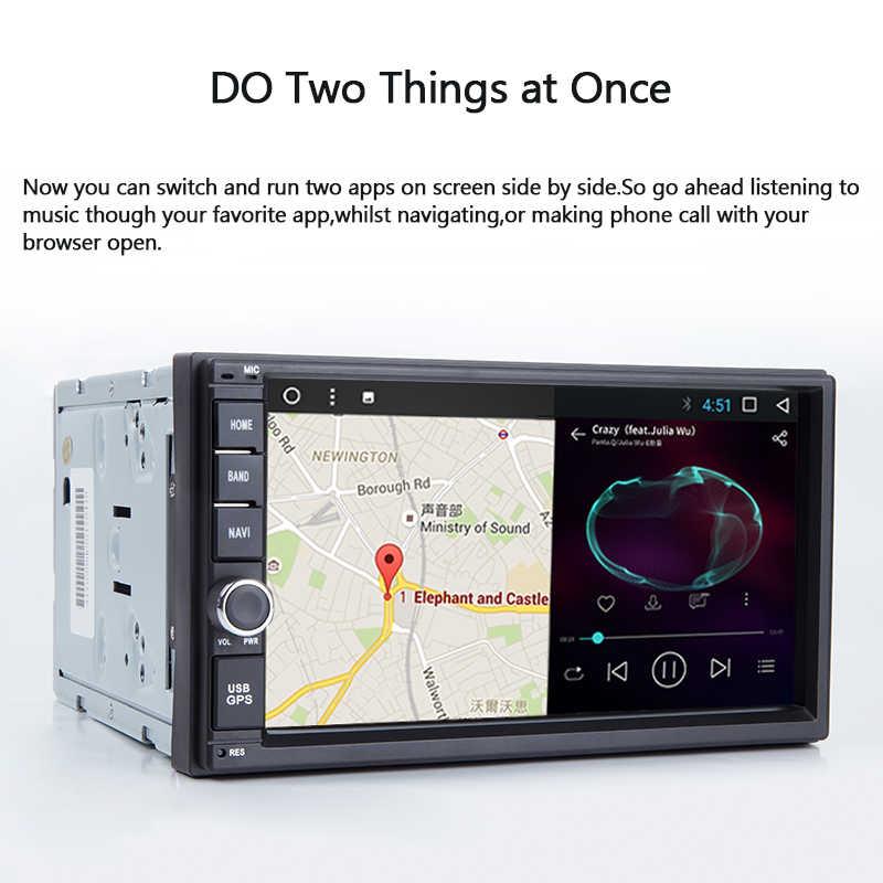 Android 8,0 2 Din универсальная 7 дюймов, автомобильный, мультимедийный gps навигация 2 Гб Оперативная память 32 GB Встроенная память микрофон OBD2 USB DVR без DVD радио плеер