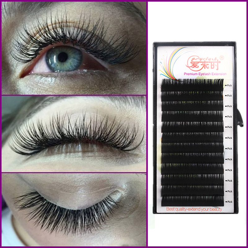 Silke Mink Eyelash BCD Curl Individuell False Eyelash Extension Tykk Falsk Cilios Eye Lashes Extension Makeup Tools