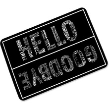 free shipping hello goodbye personality rubber foyer nonslip absorbent door mat ultrathin