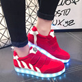 2016 Novas Mulheres Sapatos Com Light Up LED Luminoso de Incandescência Colorido Shoes Hook & Loop Sapatos Moda Casual c109 15
