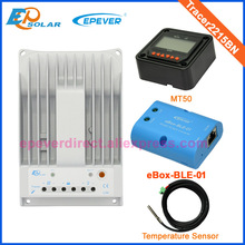 portable solar panel charger Tracer2215BN with MT50 BLE function and temperature sensor 20A
