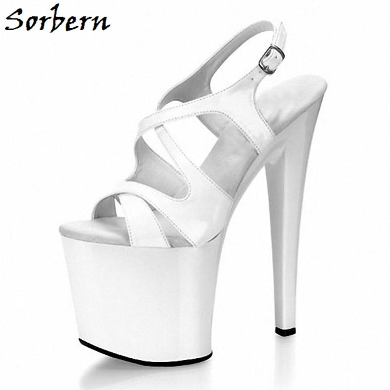 Sorbern Platform Sandals Summer High Heels Personalized Custom Color Open Toe Sandals Designer Brand Women Shoes Size 10