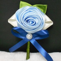 5 Pieces Set Wedding Boutonnieres White Pink Rose Groom Groomsman Pin Brooch Artificial Corsage Suit Decor