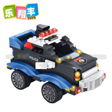 Enlighten City Series Police Swat Car Building Block sets Kids Educational Bricks Toys For Children