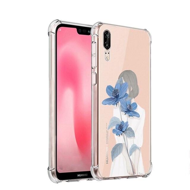 2aaf82c6bae ciciber Fashion Cute Animal Floral Back Anti-knock Phone Cases Cover For Huawei  P20 Soft 5.8'' TPU Coque Capa Fundas