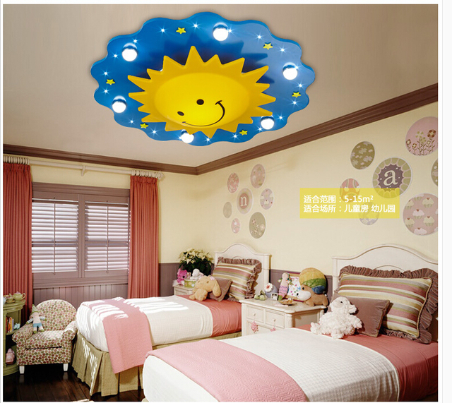 Free shipping children ceiling lamps kids bedroom light cartoon sun free shipping children ceiling lamps kids bedroom light cartoon sun design ceiling light led light source mozeypictures Choice Image