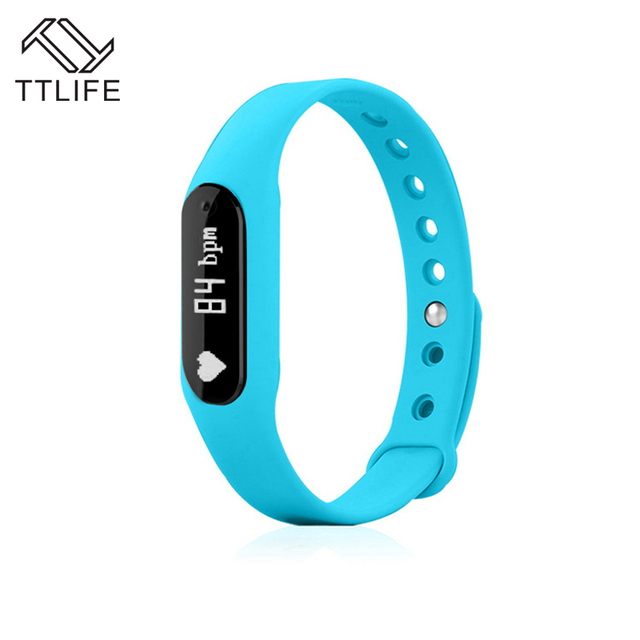 New TTLIFE Brand Passometer Smartbands Heart Rate Bracelet Sleep Fitness Tracker For IOS Android PK Mi Smart Band 2 Band pulsera
