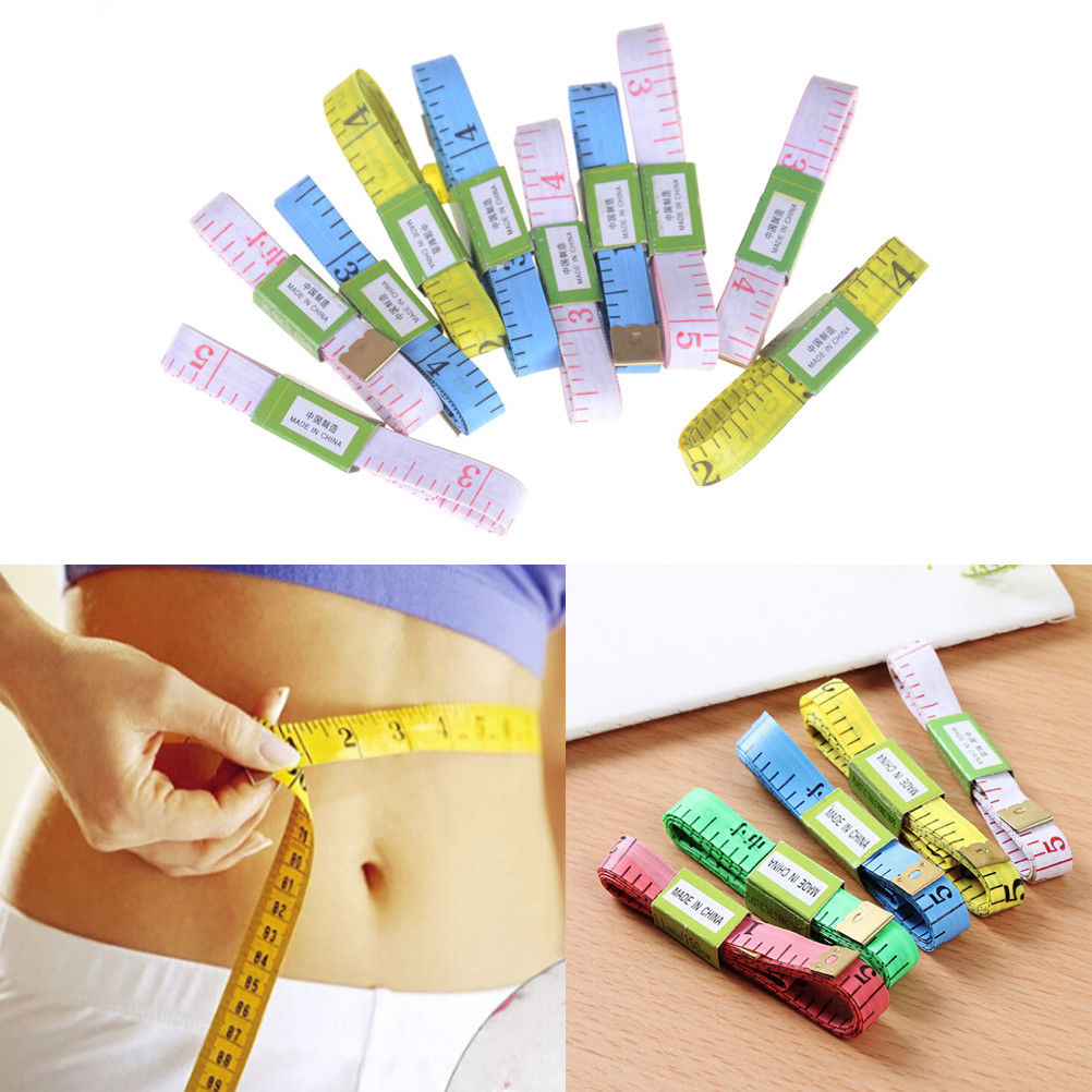 5Pcs 150cm Body Measuring Ruler Sewing Cloth Tailor Tape Soft Measure Tool