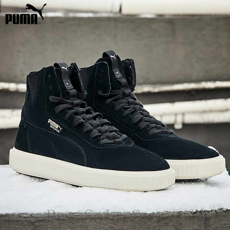 ad43b9a1a05856 PUMA Men s Breaker Hi Sneaker 366599 01 02 High Top Couple Shoes Warm  Leather Lace Up