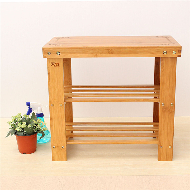 bamboo stool sofa shoes solid wood storage receive shoe wear shoes shoe rack fashion simple shelf bamboo modern furniture