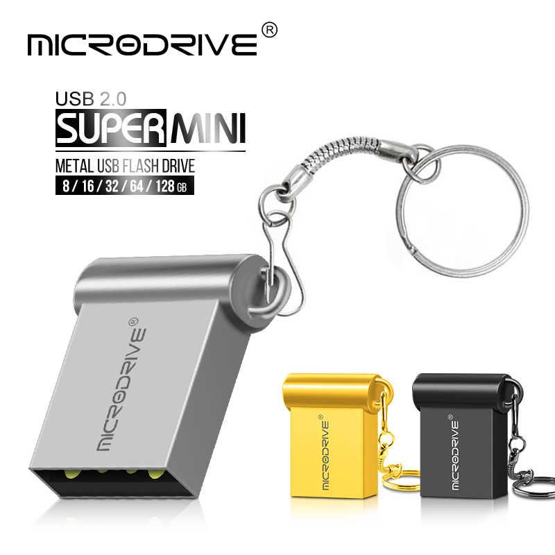 Micro mini metal usb flash drive USB 2.0 4gb 8gb 16gb 32gb memory stick 64gb 128gb 100% real capacity mini pen drive U disk