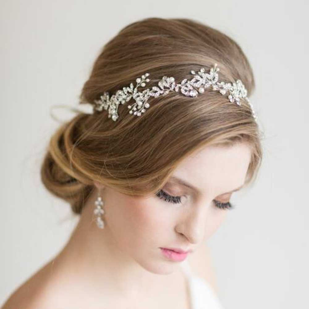 new handmade gold/silver leaf wedding headpiece bridal headband