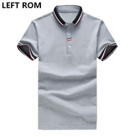 LEFT ROM Man Summer Pure Color Fashion Cultivate One S Moral Character Business Affairs Short Sleeve
