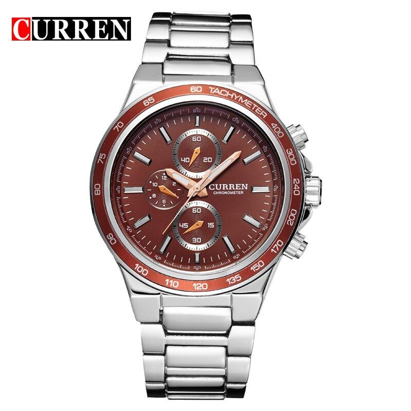 CURREN Fashion Casual Analog Military Sport Men Watch Stainless Steel Quartz Wristwatch Relogio Masculino Horloges Mannens Saat