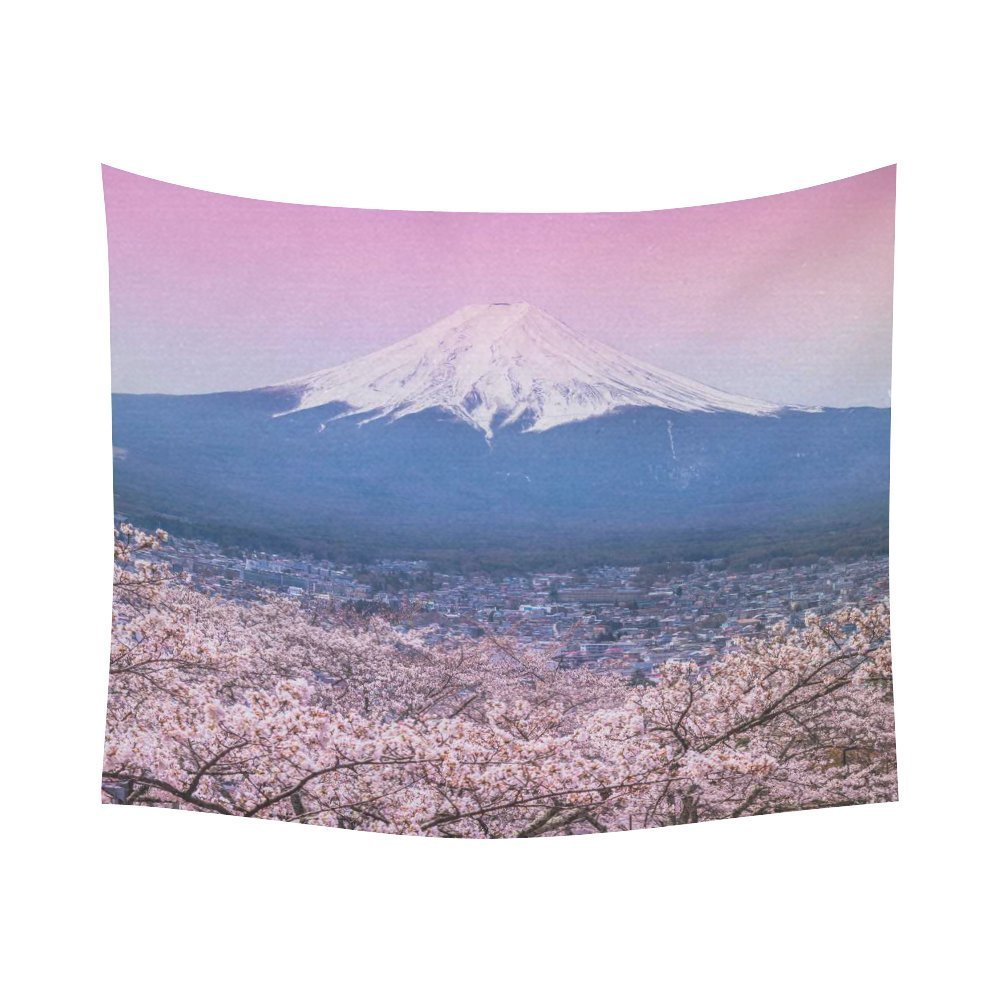 Japanese Cherry Blossoms Home Decor Tapestries Arte de la pared, - Textiles para el hogar