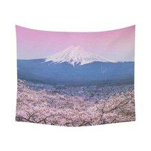 日本の桜の家の装飾タペストリー壁アート、山富士都市景観タペストリー壁掛けアートセット