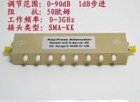 SMA N Тип RF Регулируемый аттенюатор сигнала 0-90 дБ пресс для ключей Регулируемый аттенюатор