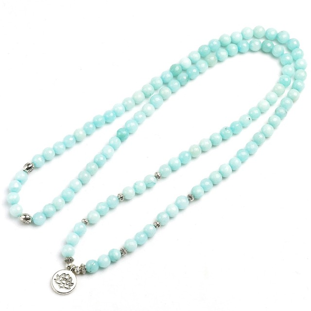 Blue Chalcedony Mala Beads 1