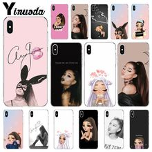 Yinuoda Ariana Grande AG Rainbow TPU Transparent Phone Case Cover Shell for Apple iPhone 8 7 6 6S Plus X XS MAX 5 5S SE XR Cases yinuoda cat ar ariana grande soft silicone tpu phone cover for apple iphone 8 7 6 6s plus x xs max 5 5s se xr cellphones
