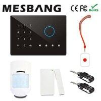 Mesbang touch screen wireless gsm auto dial sistema di allarme con app con L'inglese, russo, spagnolo, tedesco, francese spedizione gratuita
