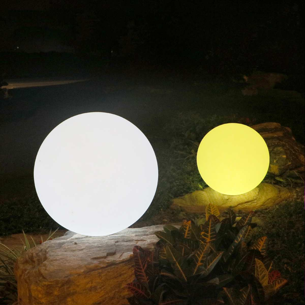 LED Solar Energy Powered Bulb Lamp 30/35/40cm Waterproof Outdoor Garden Street Solar Panel Ball Lights Lawn Yard Landscape Decor