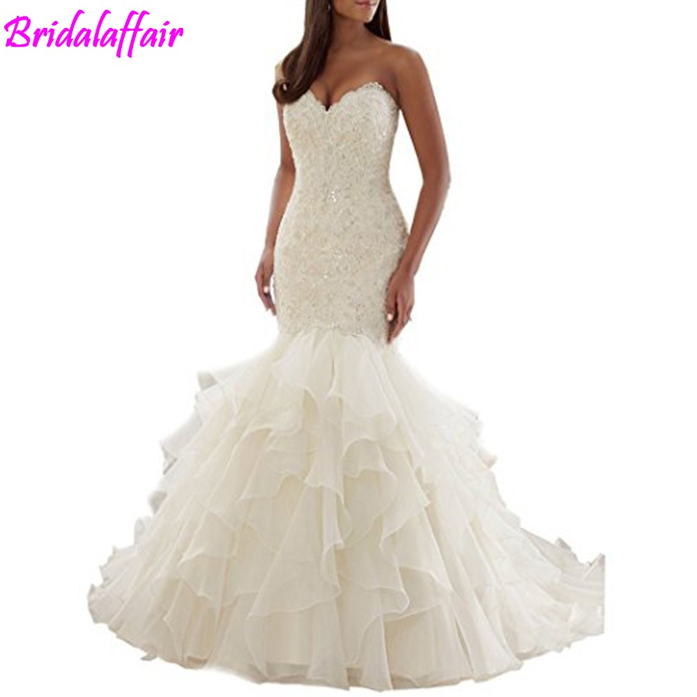 Bruidsjurken Sweetheart Mermaid wedding dresses Bridal Gown Plus Size Wedding Dresses For Bride vestidos de noiva suknia slubna