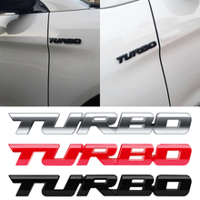 3D Metal Turbo Emblem Car Sticker for Ford Focus Porsche Audi A4 Passat Magotan Auto Badge Stickers Decor Accessories