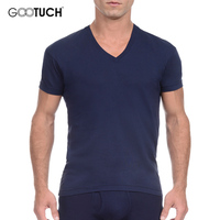 Man S Cotton Solid Color Plus Size Underwear T Shirt Short Sleeve Relax Breathable Strench European
