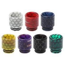 Drip Tip Snakeskin Epoxy Resin 810 Mouthpiece For TFV12 Atomizer RDA RTA Tank E Cigarettes Vape Accessories(China)