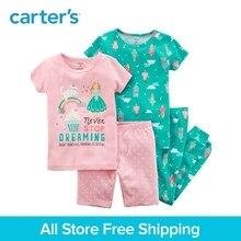Carter's 4-Piece baby children kids clothing Girl Summer Snug Fit Cotton PJs 23241524