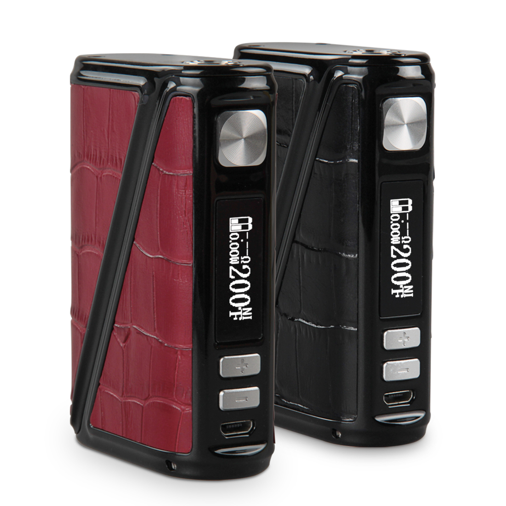 bilder für 100% Original Warlock 233 Watt TC Leder Big Box Elektronische Zigarette Box Mod 5 Modell Riesige Vape e zigarette durch 18650