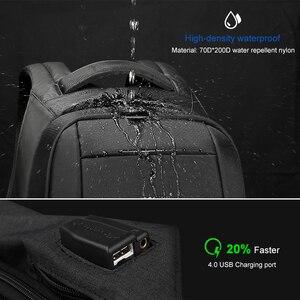 Image 4 - Tigernu 방수 도난 방지 여성 Mochila 15.6 인치 노트북 배낭 USB 배낭 학교 가방 배낭 여성 여행 가방