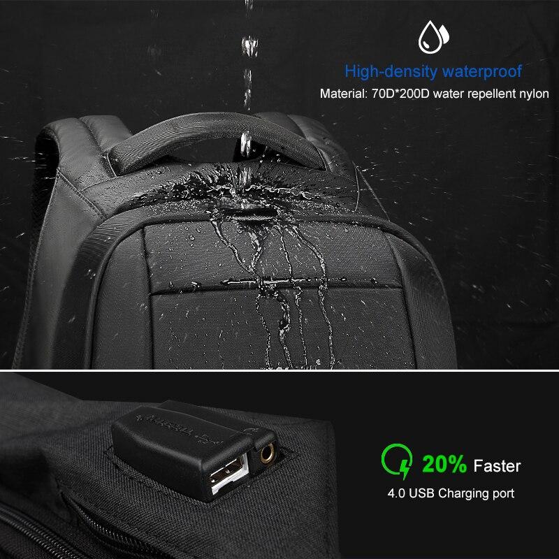 Image 2 - Tigernu Waterproof Anti Theft Male Mochila 15.6inch Laptop Backpack Men USB Backpacks School bags Bagpack for teens travel bag-in Backpacks from Luggage & Bags