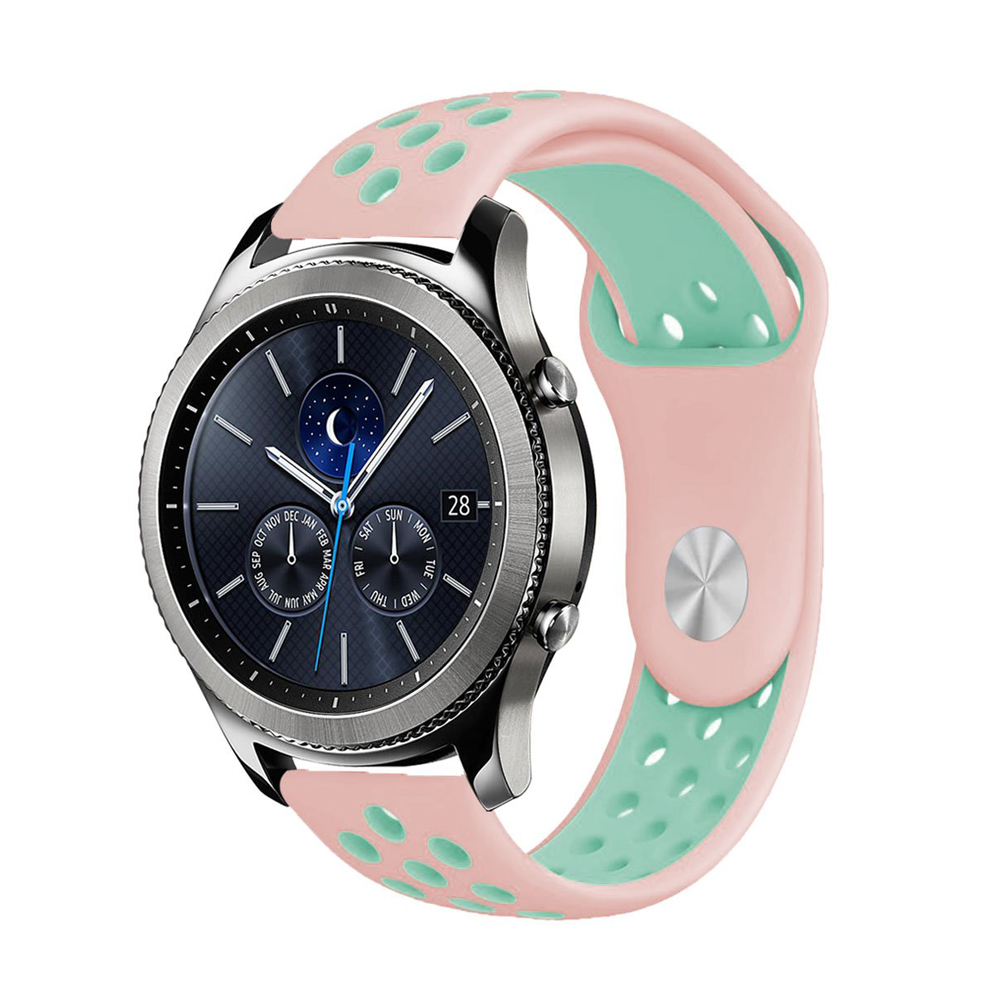 Huawei watch gt band for samsung galaxy gear S3 frontier 46mm 42mm S2 classic active 20/22mm strap silicone bracelet accessories Pakistan