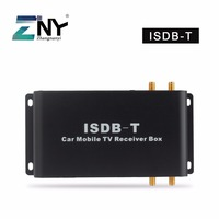 Car ISDB T Digital TV Receiver 4 Antennas For South America Brazil Chile Argentina Peru Japan Philippines Support Max. 200 KM/H