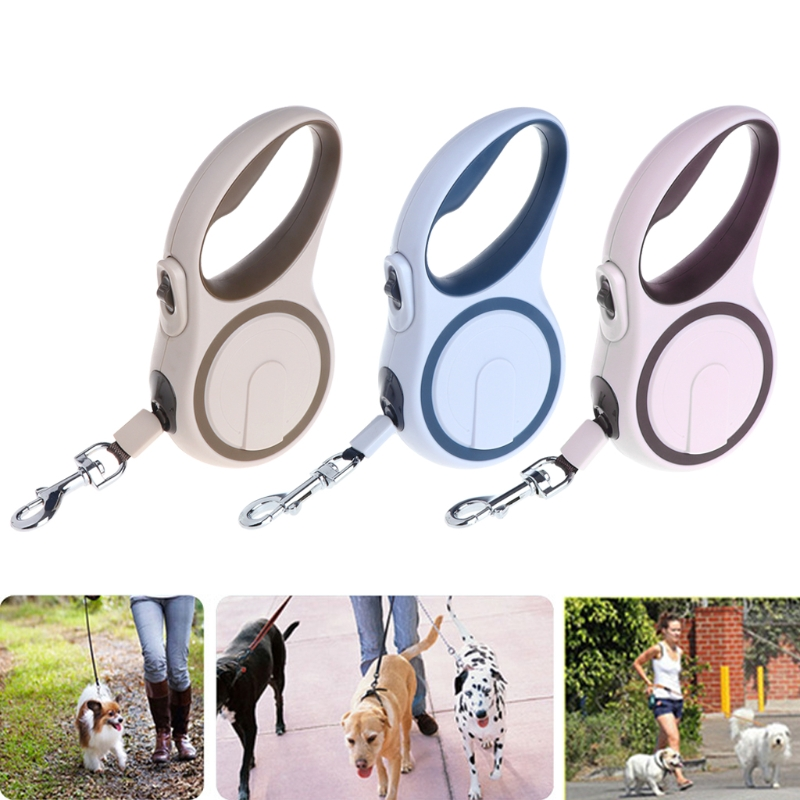 ABS Telescopic High-Grade Durable Automatic Retractable Dog Traction Rope Leashes Pet Le ...