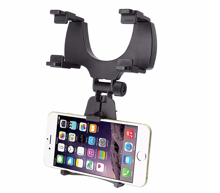 Adjustable Rotary GPS Mobile Phone Car Auto Rearview Mirror Mount Holders  Stands For Huawei Honor 8 Lite,Honor V9,P8 Lite (2017)-in Mobile Phone