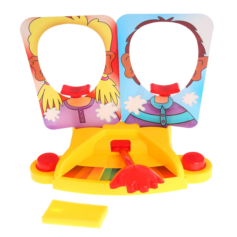 Prank Funny Double Person Toy Cake Cream Pie In The Face Anti Stress Toy for Kid