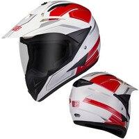 RED White BYE Motorcycle helmet full face helmet clear visor spoiler casco moto capacete motocross DOT approverd for racing