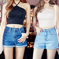 Vintage Halter Tops Sexy Crop Top Lace Up Sexy Female Cropped Tank Tops Trendy Ladies Sleeveless T-Shirt for Women 32577