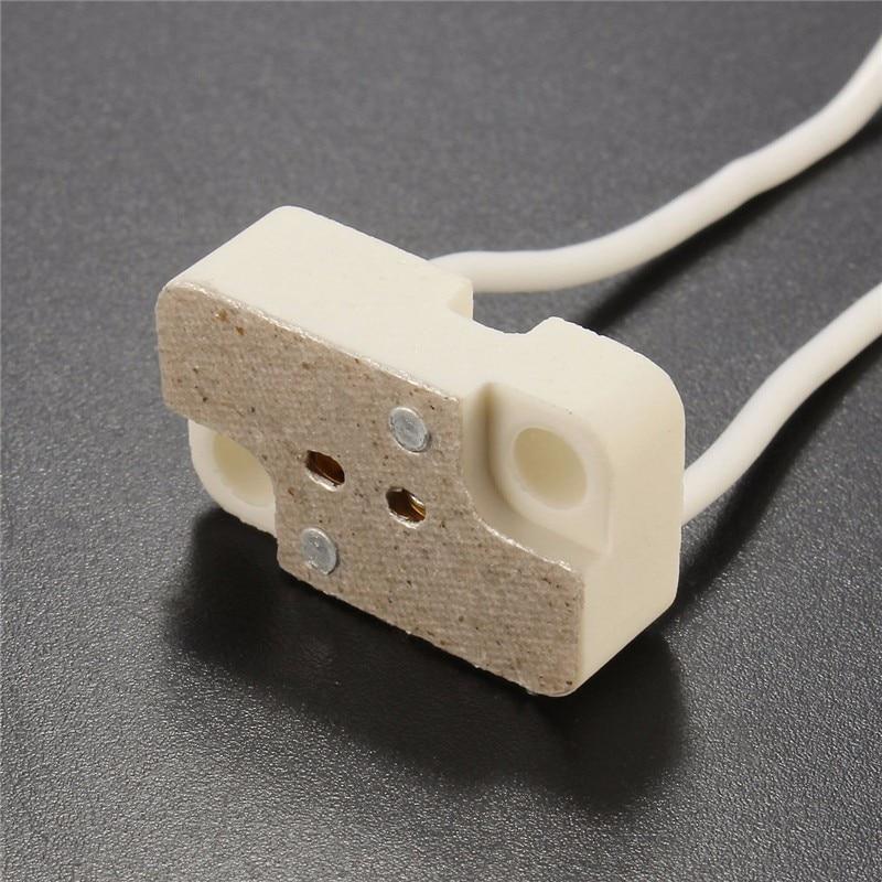S 25 X MR16 MR11 GU5.3 GX5.3 G4 Wire Socket LED Halogen Lamp Holder Base Ceramic