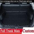 3D Custom fit car trunk mat for Honda Accord Civic CRV City HRV Vezel Crosstour Fit car-styling heavey duty carpet cargo liner