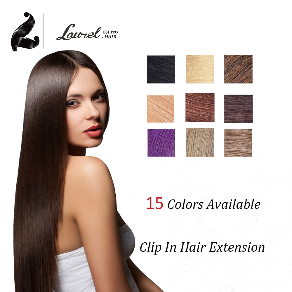 Remy Human Hair Clip In Extensions Malaysian Virgin Hair Straight 7Pcs 8Pcs 100 Human Hair Extensions Clip #27 #613 99J Color