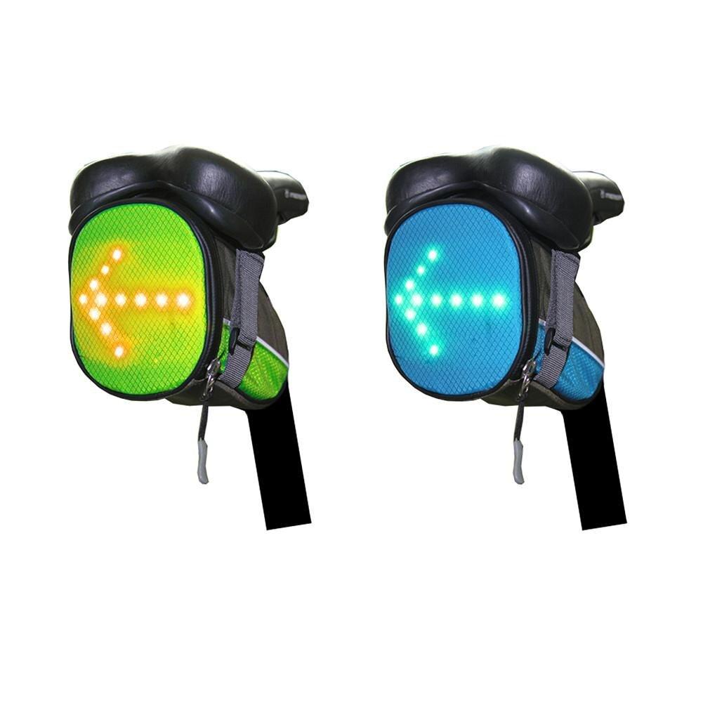 30 LED беспроводной пульт дистанционного управления безопасности указатель поворота велосипедная Хвостовая Сумка велосипедная Ночная сигнальная направляющая сумка для инструмента Сумки и корзины для велосипеда      АлиЭкспресс