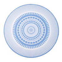 European Simple Circle Pattern Sky Blue Round Rug Washable Non slip Carpet for Living Room Computer Chair Hanging Basket Chair